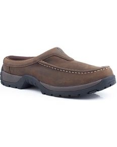 Roper Performance Lite Open Back Slip-On Casual Shoes, Tan, hi-res