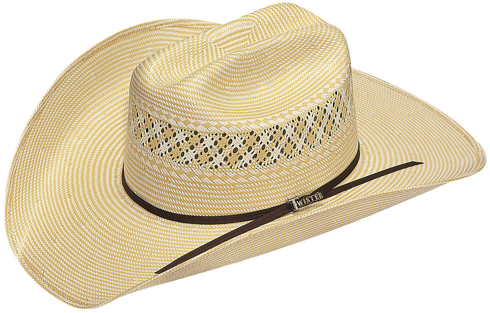 c60b3ce714a Twister Men s 10X Shantung Straw Cowboy Hat - Country Outfitter