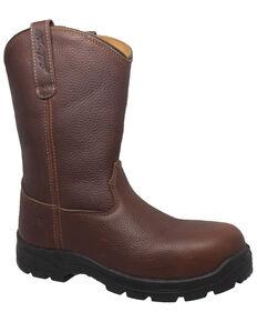 Ad Tec Men's Wellington Work Boots - Composite Toe, Brown, hi-res