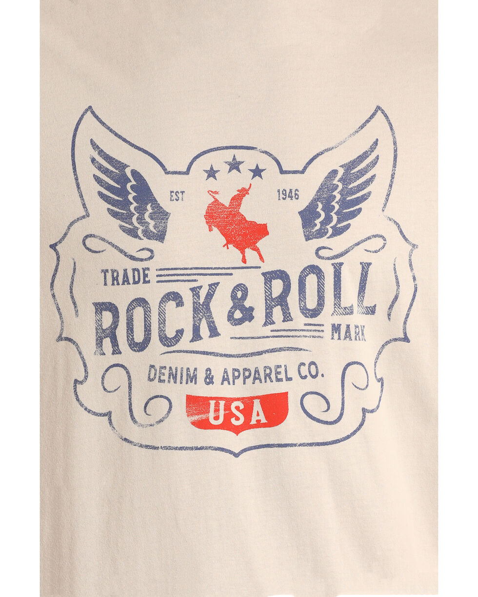 Rock & Roll Cowboy Men's Wings and Rider Graphic T-Shirt , , hi-res