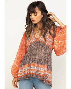 Free People Women's Aliyah Print Tunic, Pink, hi-res