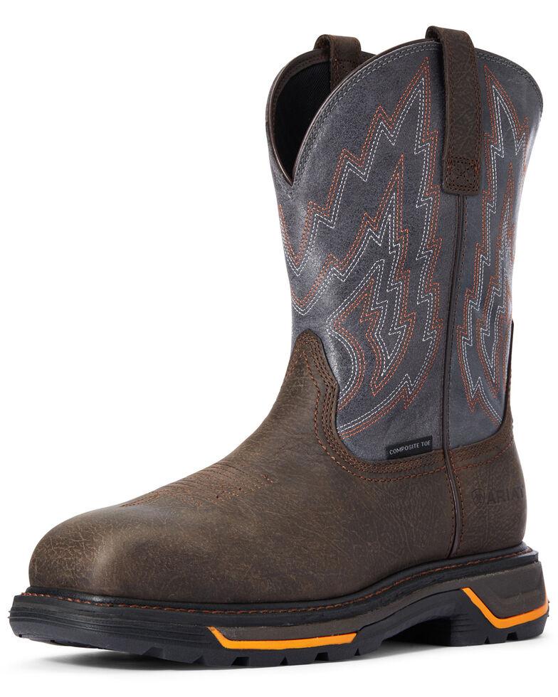 Ariat Men's Iron Big Rig Western Work Boots - Composite Toe, Brown, hi-res