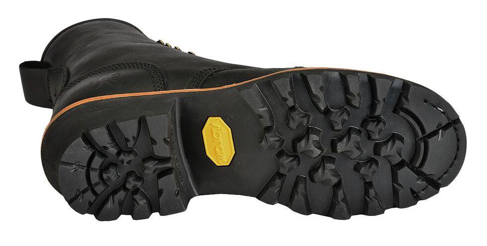 "Chippewa 8"" Lace-Up Logger Boots - Round Toe, Black, hi-res"