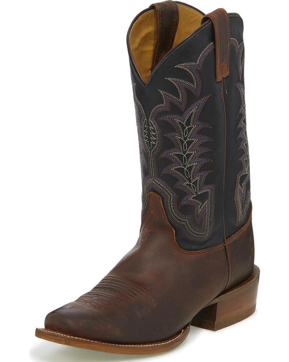 Justin Men's Briar Gaucho Stitched Cowboy Boots - Square Toe, Brown, hi-res