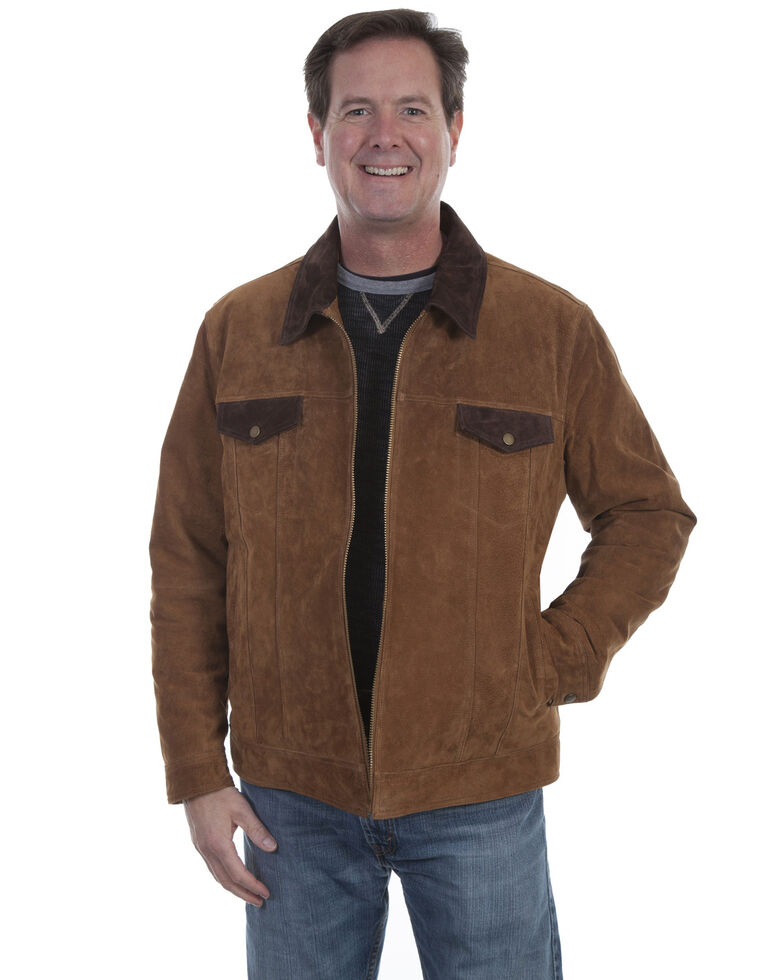 Scully Men's Two-Toned Suede Brown Jacket, Brown, hi-res