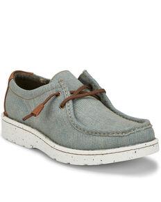 Justin Men's Casual Hazer Denim Shoes - Round Toe, Blue, hi-res