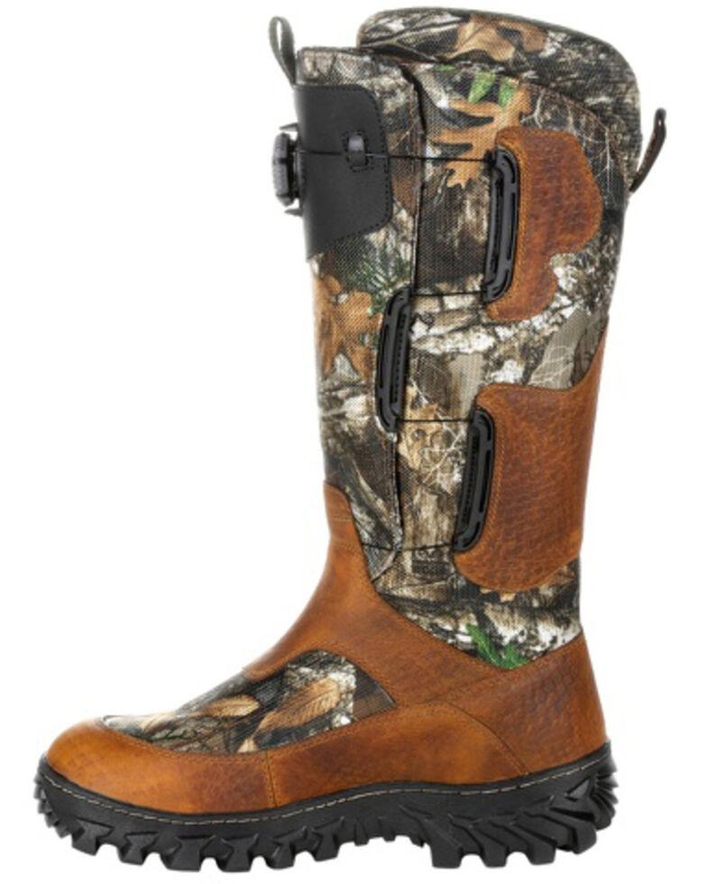 Rocky Men's King Snake Boa Waterproof Snake Boots - Soft Toe, Bark, hi-res