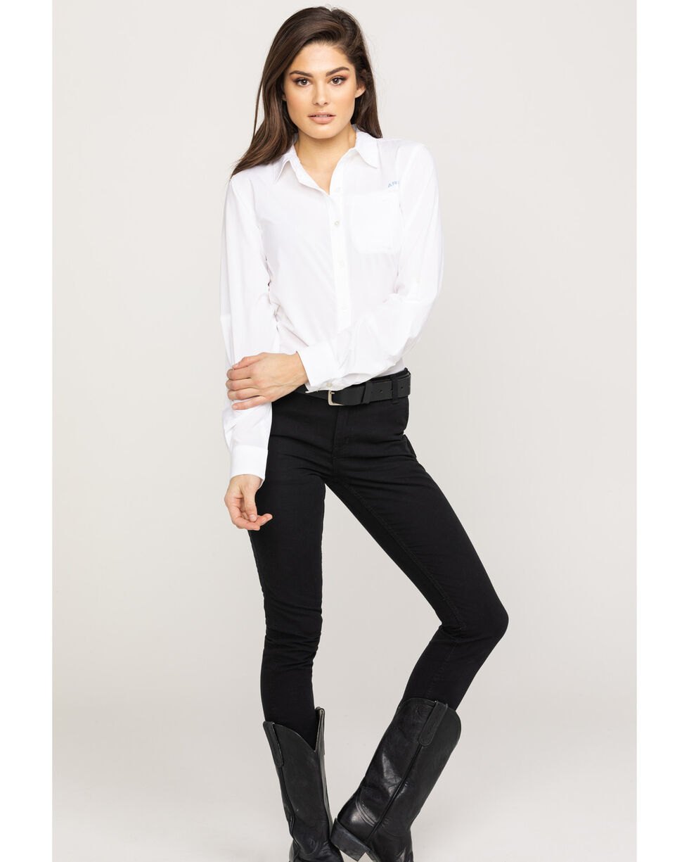 Ariat Women's White VentTek II Long Sleeve Shirt, White, hi-res