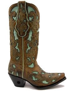 Black Star Women's Gruene Western Boots - Snip Toe, Brown, hi-res
