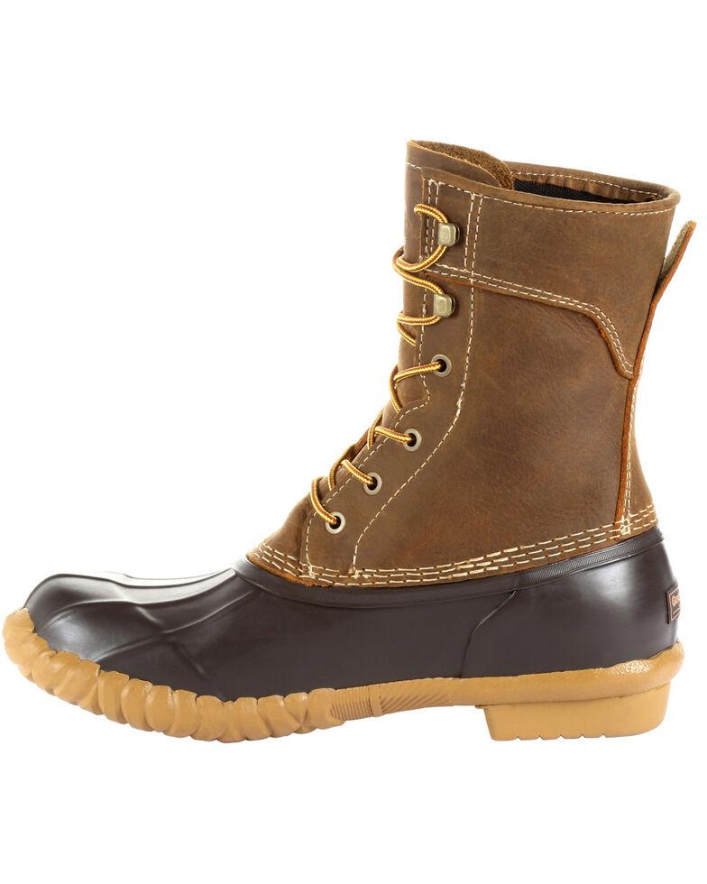 Georgia Boot Men's Marshland Waterproof Duck Boots - Round Toe, Brown, hi-res