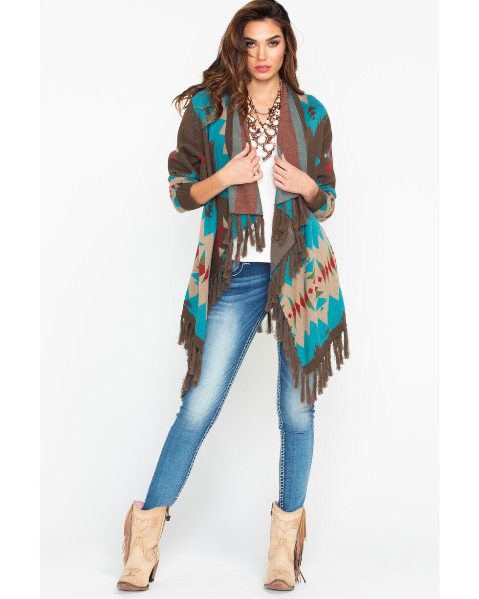 Tasha Polizzi Women's Cheyenne Cardigan, Teal, hi-res