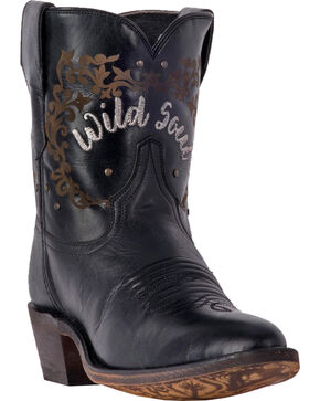 Laredo Women's Reckless Black Wild Soul Cowgirl Boots - Medium Toe, Black, hi-res