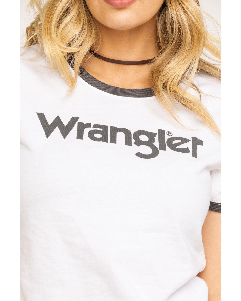 Wrangler Women's Grey Wrangler Ringer Tee, Grey, hi-res
