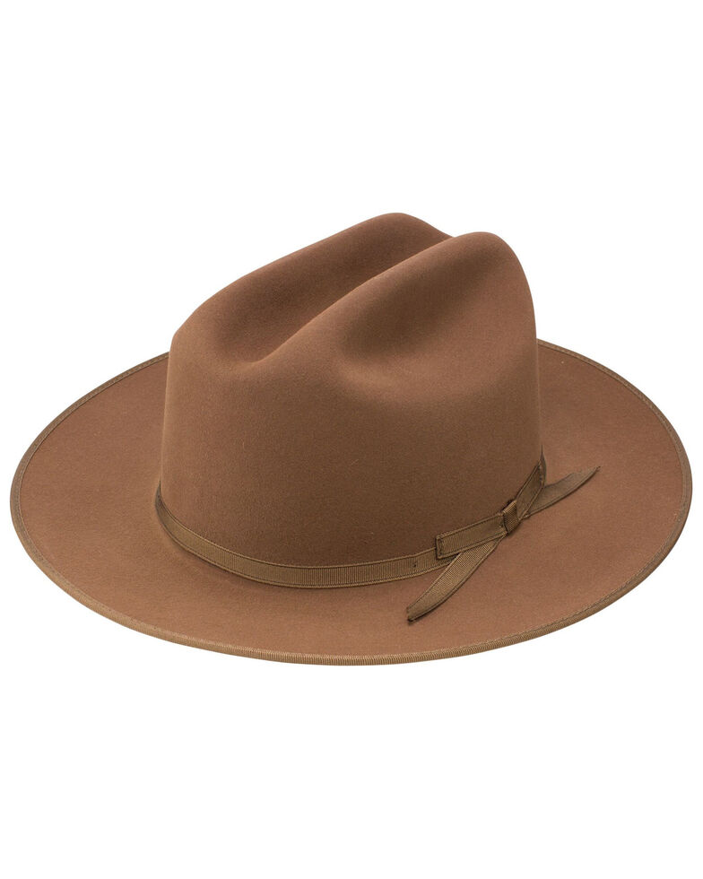 Stetson Men's Royal Deluxe Open Road Hat , Brown, hi-res