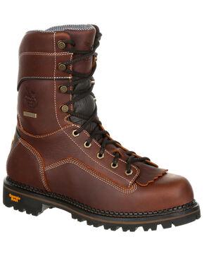 Georgia Boot Men's Amp LT Waterproof Logger Boots - Round Toe, Brown, hi-res