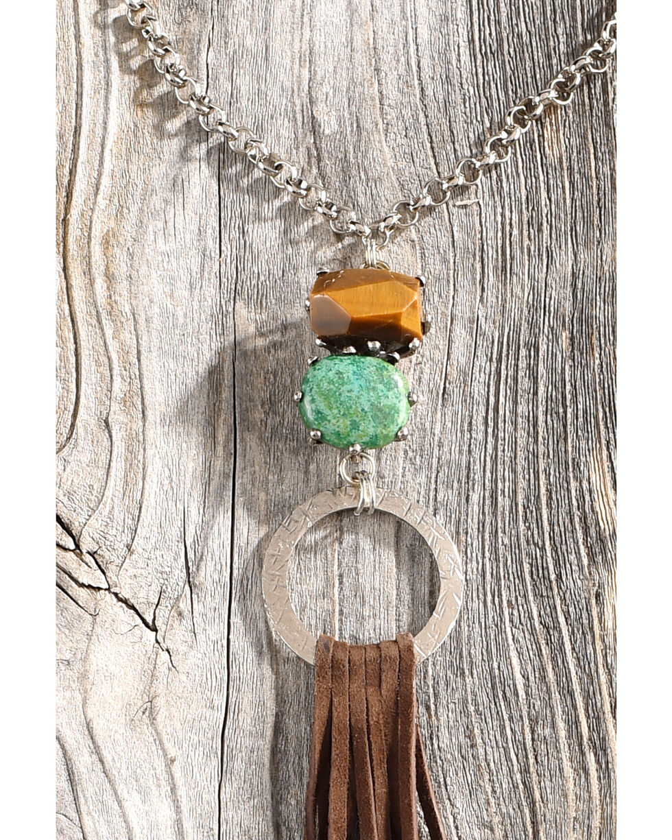Cowgirl Confetti Women's Wild Wonder Necklace, Brown, hi-res