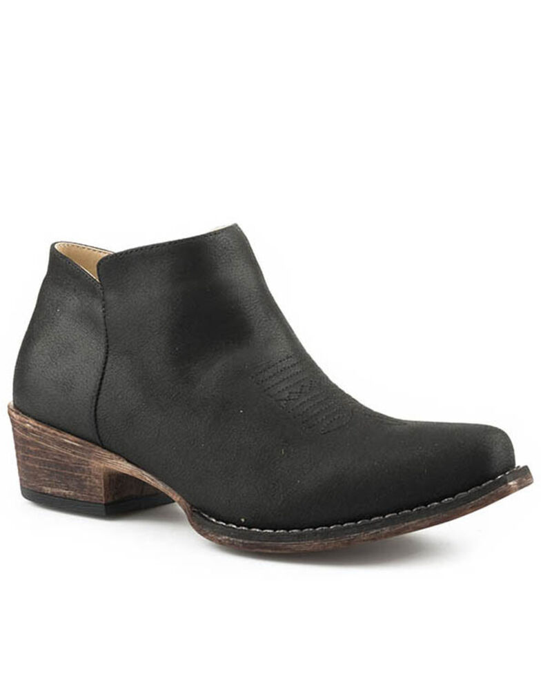 Roper Women's Vintage Black Fashion Booties - Snip Toe, Black, hi-res