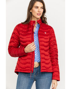 Ariat Women's Red Ideal 3.0 Down Jacket, Red, hi-res
