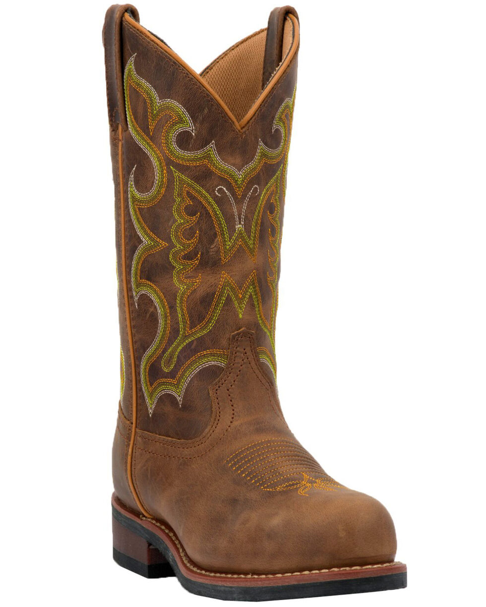 Laredo Women's Ainsley Western Boots - Steel Toe, Tan, hi-res