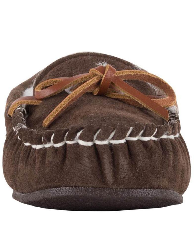 Lamo Footwear Women's Chocolate Britain Moc II Wide Slippers - Moc Toe, Chocolate, hi-res