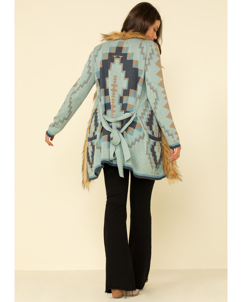 Tasha Polizzi Women's Greylock Blanket Cardigan Sweater , Indigo, hi-res