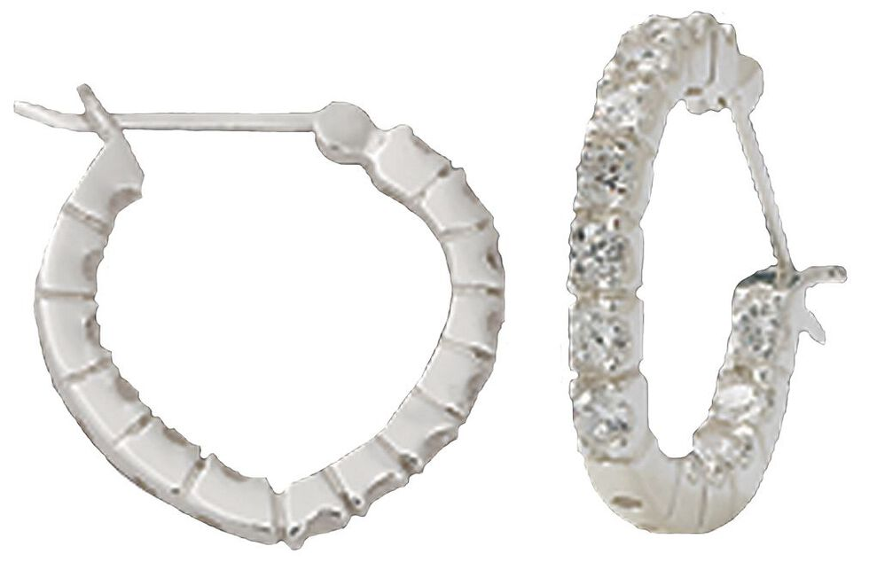 Montana Silversmiths Heart Hoop Earrings, Silver, hi-res