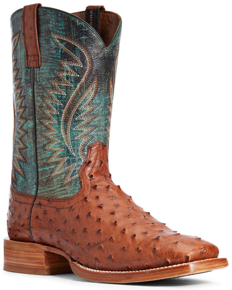 Ariat Men's Gallup Brandy Western Boots - Wide Square Toe, Brown, hi-res