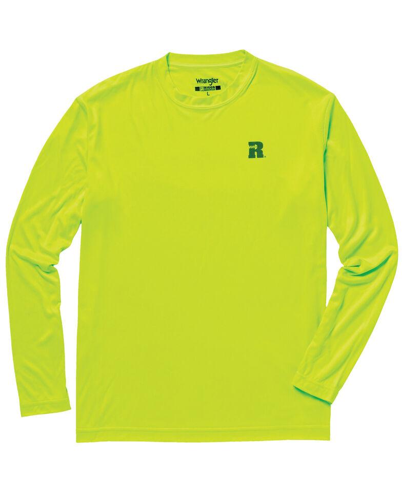Wrangler Riggs Men's Green Crew Performance Long Sleeve Work T-Shirt - Big & Tall, Bright Green, hi-res