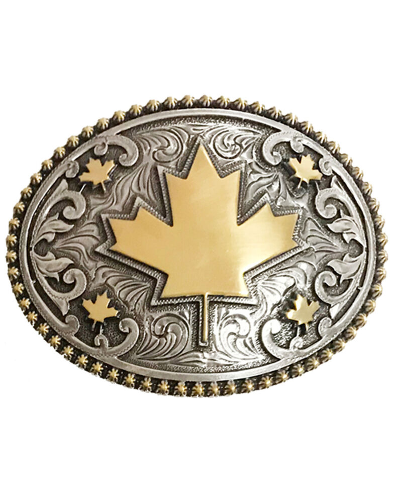 AndWest Canada Maple Leaf Buckle, Gold, hi-res