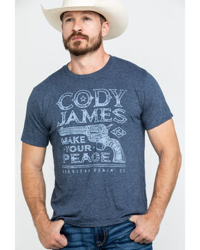 Cody James Men's Make Your Peace Graphic T-Shirt , Maroon, hi-res