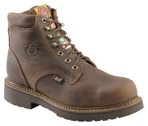 "Justin Men's J-Max 6"" Balusters Bay Gaucho Puncture Resistant EH Lace-Up Work Boots - Steel Toe, Bay Apache, hi-res"
