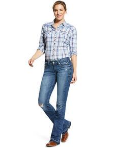 Ariat Women's Capitola Melissa Bootcut Jeans , Blue, hi-res