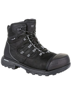 Rocky Men's XO-Toe Waterproof Work Boots - Composite Toe, Black, hi-res