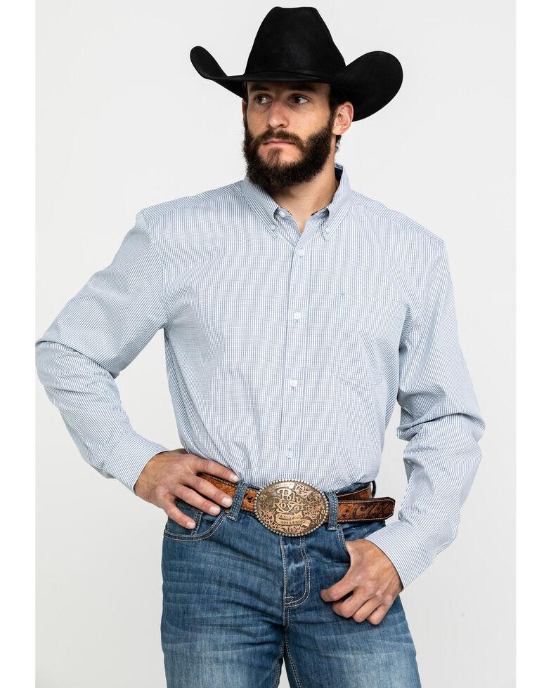 Cody James Core Men's East Fork Plaid Long Sleeve Western Shirt, Blue, hi-res