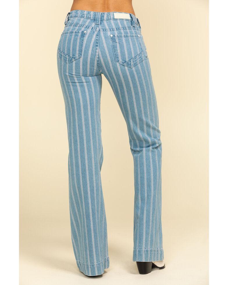 Rock & Roll Denim Women's Light Stripe Trousers, Blue, hi-res