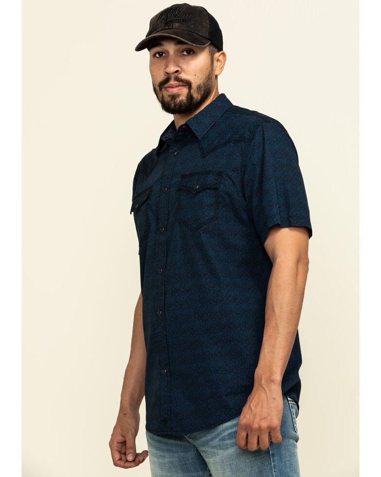 Moonshine Spirit Men's Daisy Luck Floral Print Short Sleeve Western Shirt , Black, hi-res