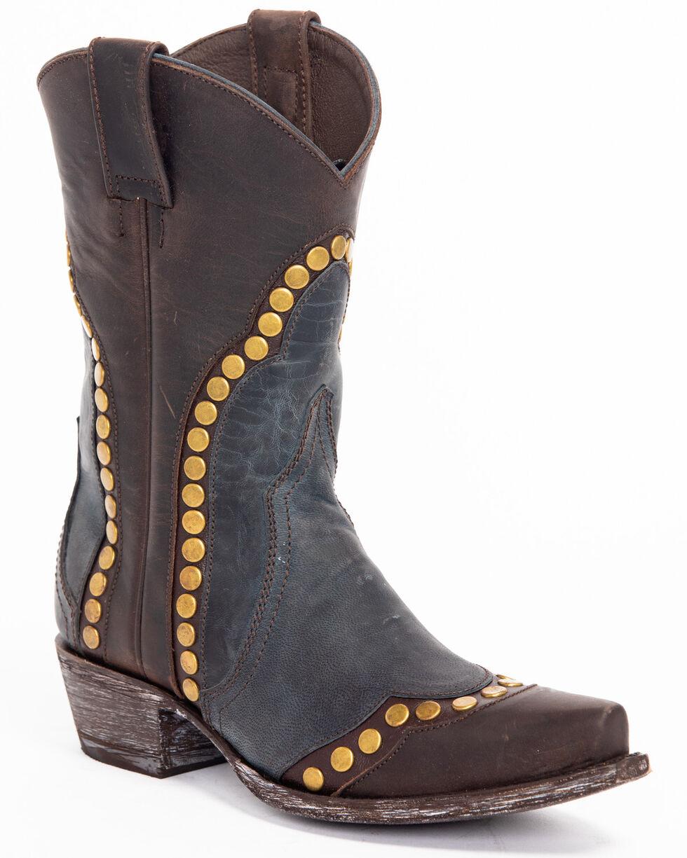 Idyllwind Women's Stud Western Boots - Snip Toe, Blue, hi-res