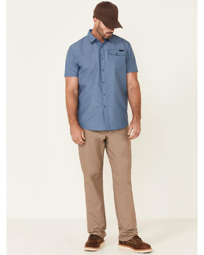 Wrangler ATG Men's All-Terrain Dark Blue Shooter Short Sleeve Button-Down Western Shirt , Dark Blue, hi-res