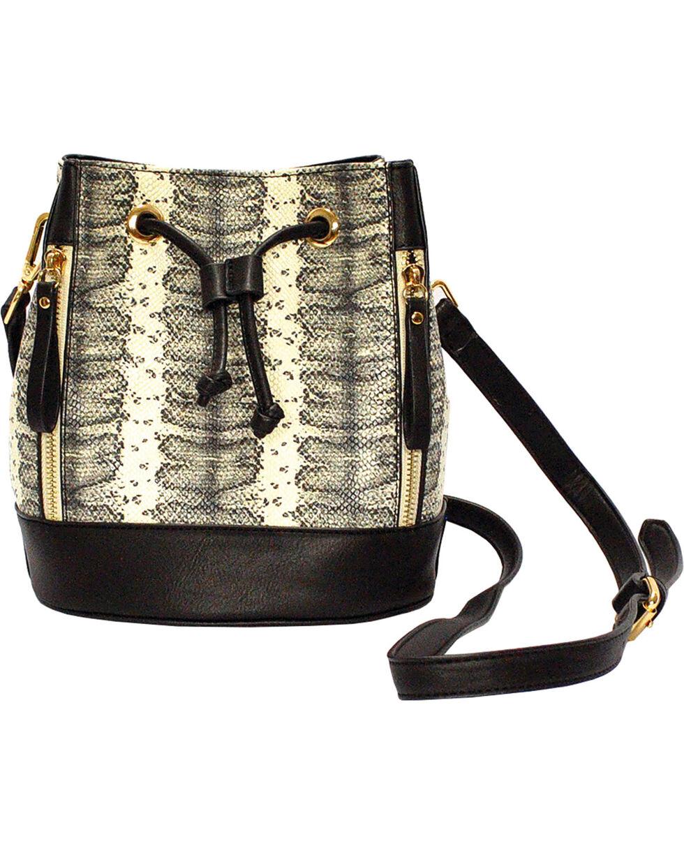 Wear N.E. Wear Women's Drawstring Snakeskin Shoulder Bag, , hi-res