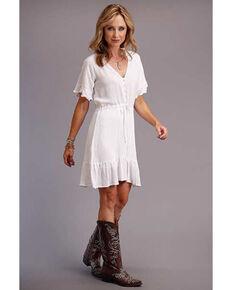 Stetson Women's White Tie Waist Dress, White, hi-res