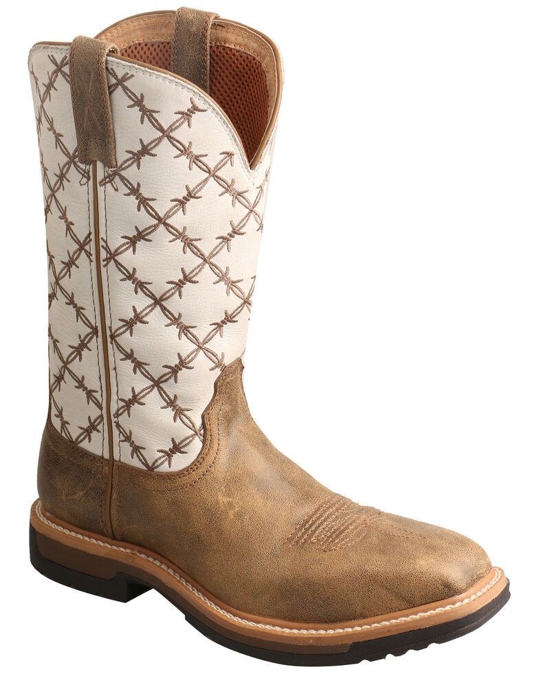 Twisted X Women's Lite Cowboy Western Work Boots - Alloy Toe, Brown, hi-res