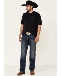 Rock & Roll Denim Men's Vintage 46 Dark Double Barrel Stretch Relaxed Straight Jeans , Blue, hi-res