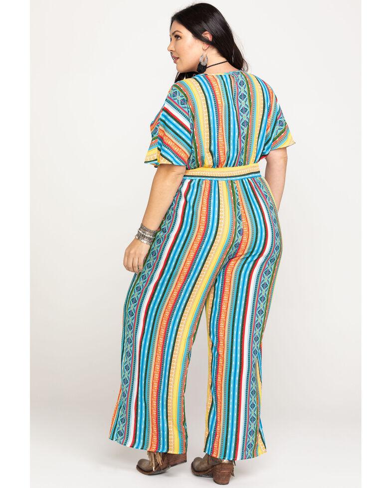 Flying Tomato Women's Aztec Print Jumpsuit - Plus, Multi, hi-res