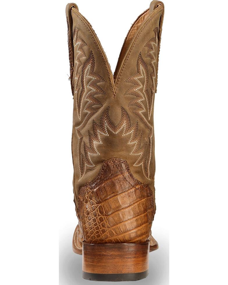 El Dorado Men's Handmade Caiman Back Apache Stockman Boots - Square Toe, Brown, hi-res
