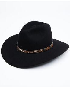 Rodeo King 5X Black Tracker Bonded Leather Western Felt Hat, Black, hi-res
