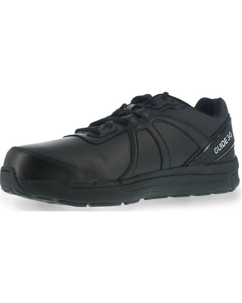 Reebok Men's Leather Athletic Oxfords - Steel Toe, Black, hi-res