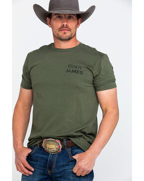 Buckwear Men's Ride Graphic T-Shirt , Green, hi-res