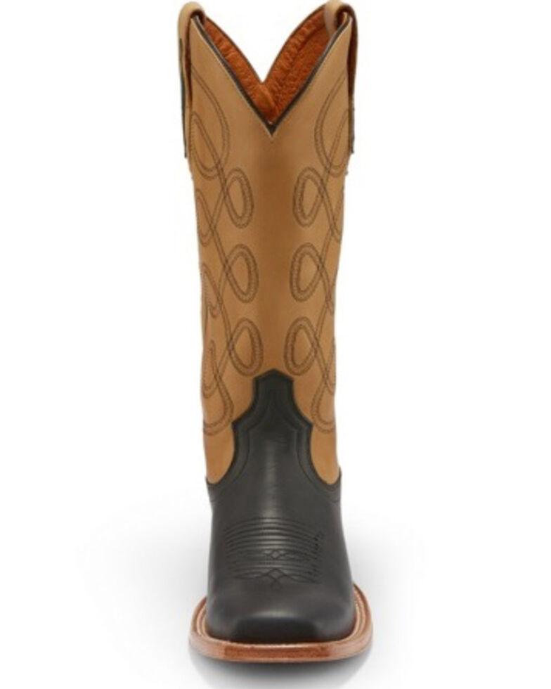Tony Lama Women's Naomi Buckskin Western Boots - Square Toe, Chocolate, hi-res