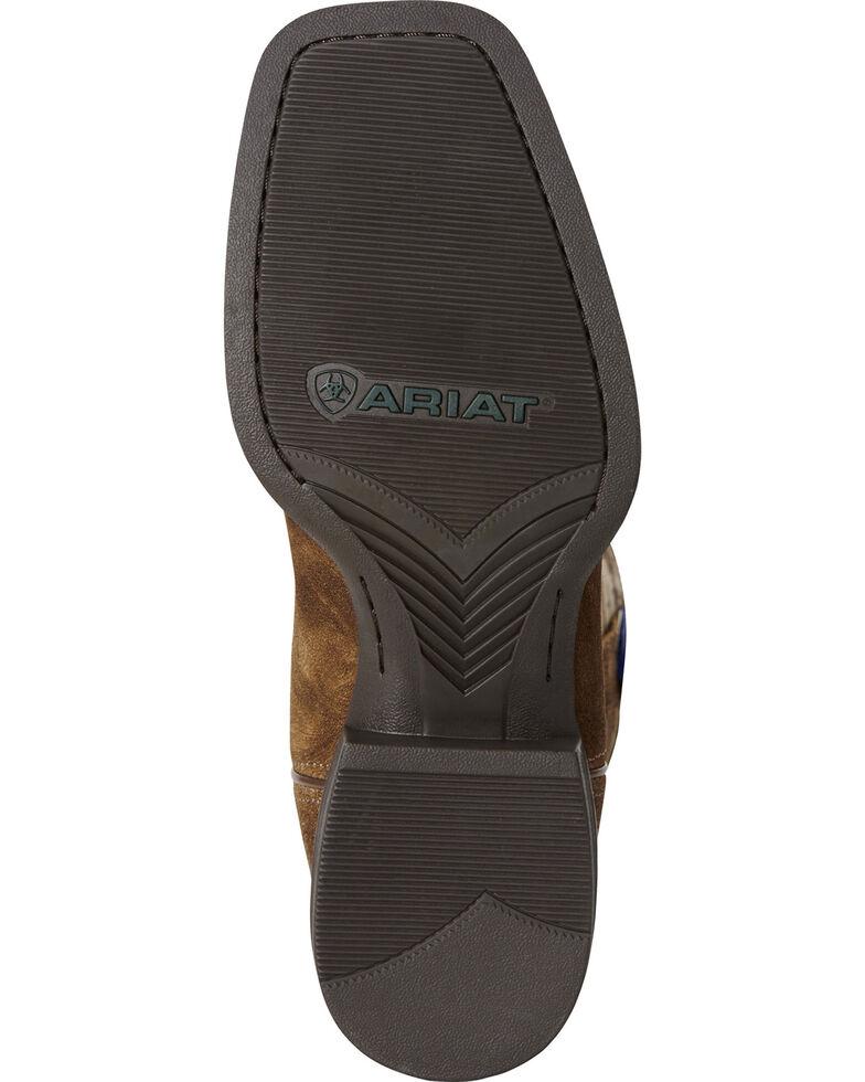 Ariat Men's Sport Patriot Western Boots - Wide Square Toe, Brown, hi-res