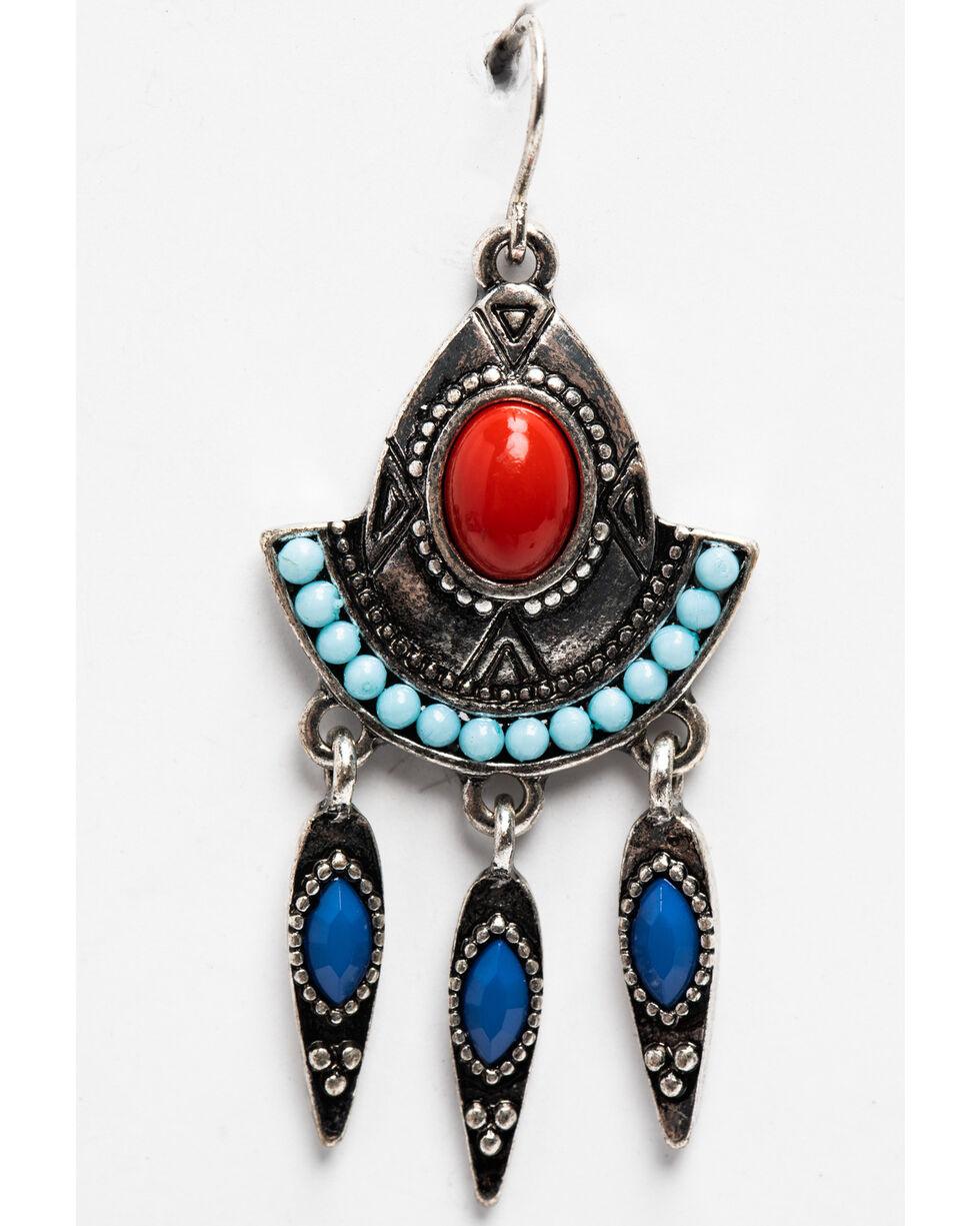 Shyanne Women's Merica Chandelier Earrings, Silver, hi-res